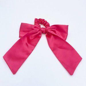 J. Crew Satin scrunchie with bow